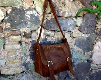 Brown Leather Hobo Laptop Bag