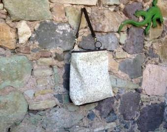 Leather and Fur Combo Hobo Bag
