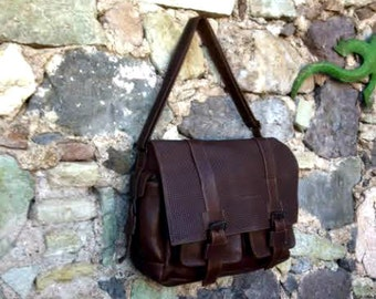 Brown Leather Briefcase Laptop