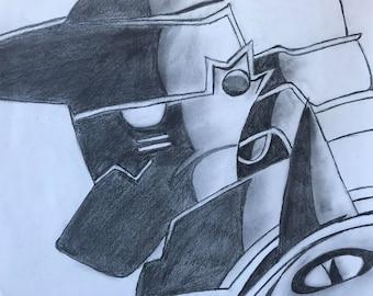 Alphonse Elric - Original Full Metal Alchemist Pencil Fan art