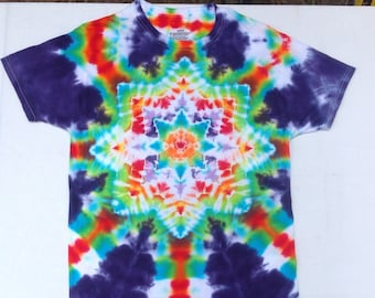 Tie Dye StarBurst T Adult Medium by Barry Boyland
