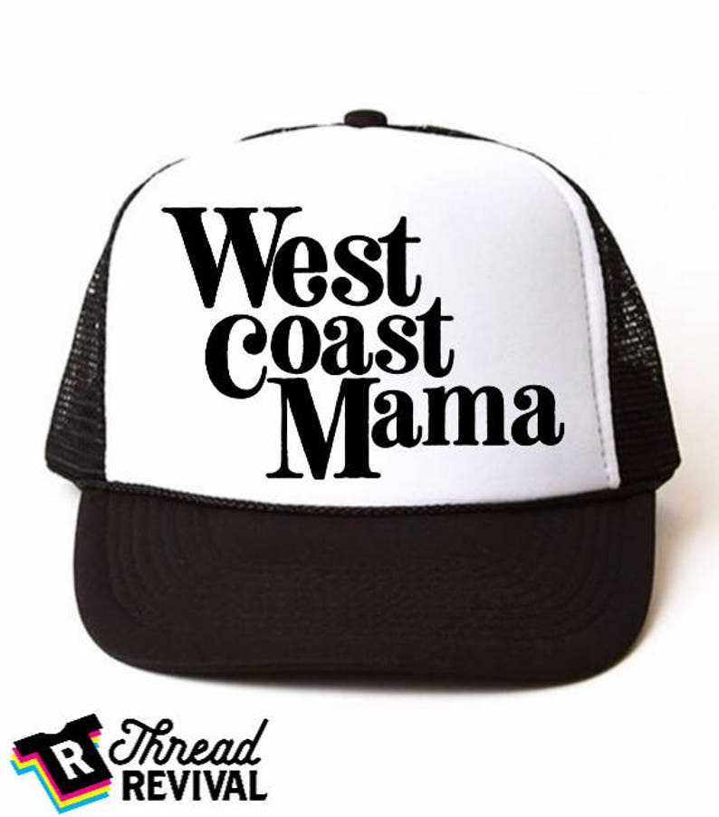 08cbbae746288 West Coast Mama trucker hat Mom Hat personalized Hat custom