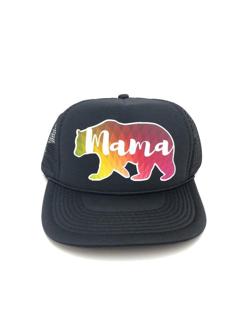 e89731e4d474c Mama Bear Hat MAMA Hat Mom Hat personalized Hat custom