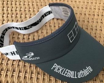 Pickleball Athlete Court Visor in gray
