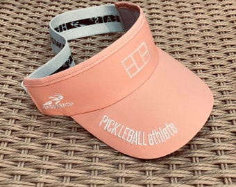 Pickleball Athlete Court Visor in soft hot coral