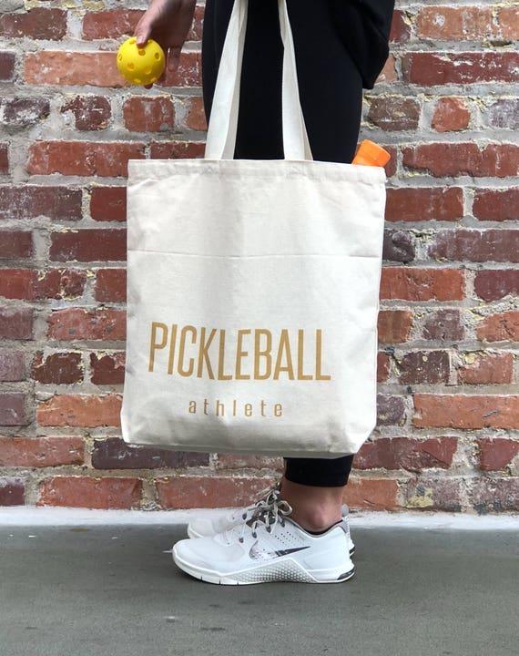 Pickleball Athlete canvas tote