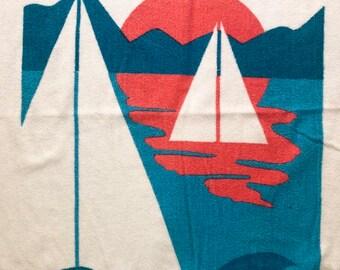 Cecil Saydah Beach Towels.1980s Beach Towel Etsy