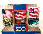 6 Vintage Bicentennial Glasses by Anchor Hocking 1970 39 s