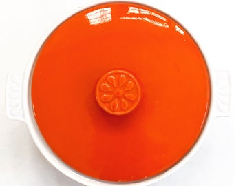 California Pottery Covered Casserole Dish // Vintage Ceramic Casserole Dish // California Pottery // 1960's