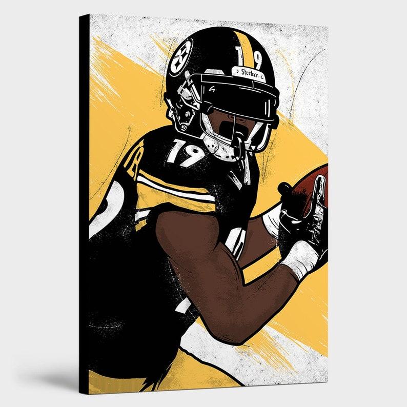 Smith-schuster Canvas Steelers Wall Art Cave Print - Pittsburgh Man Juju Decor
