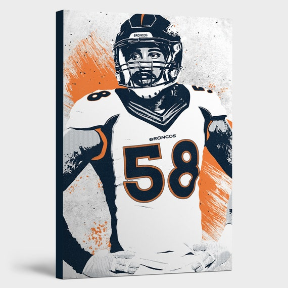Von Miller Denver Broncos Decor: Canvas Print Wall Art | Etsy