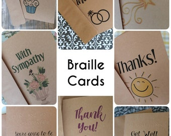 Braille etsy braille card braille get well braille thank you braille sympathy braille happy birthday card greeting card in braille fast shipping reheart Choice Image