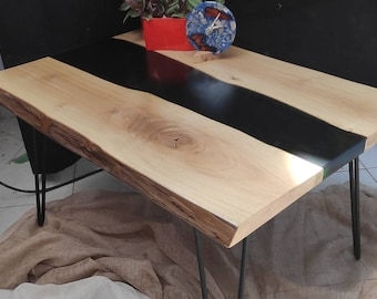 Table Basse Souche Etsy