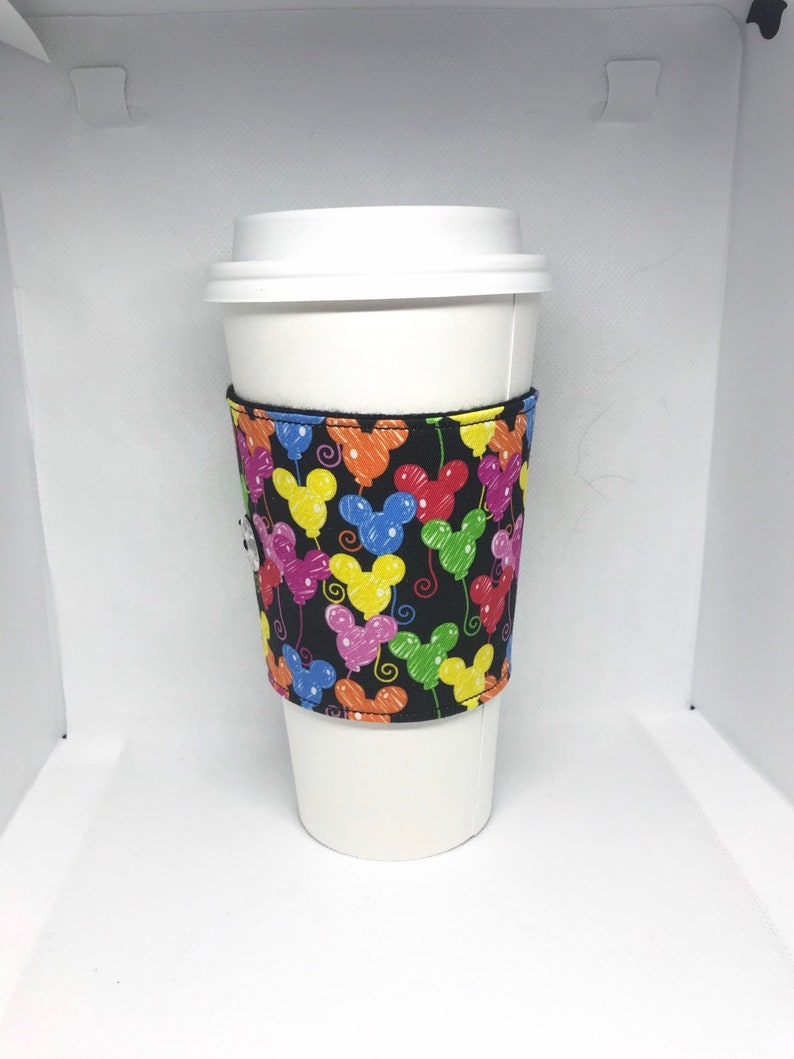 Sketchy mickey balloons coffee sleeve image 0