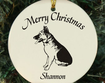 Personalized German Shepherd (Dog Breed) Ornament - Personalized with Name