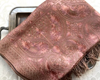 Woolen Embroidery Pashmina Indian Wrap Scarf Shawl. Himalayan Kashmiri pure wool. Easy Care Gift for her. Ethnic exotic dressy wedding wear