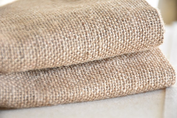 60 Wide Burlap Curtains Blackout Lining Available Etsy
