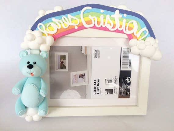 ded38428b2b9 Rainbow frame Cute photo frame Personalized gift Baptism