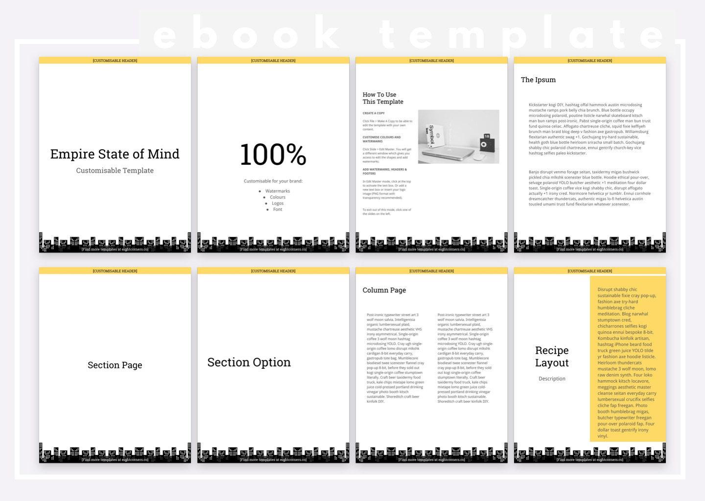 Ebook Template   New York Inspired Modern Minimalist Customizable Ebook Template Etsy