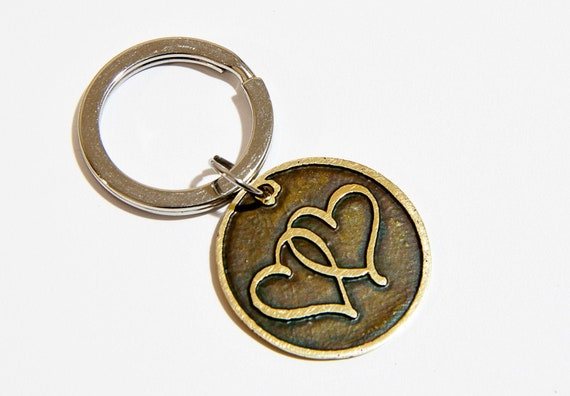 Love heart keyring Meaningful gift for him Cool mens keyrings   Etsy