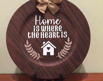 Home is where the heart is decorative plate