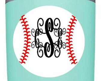 Personalized Baseball Decal/RTIC decal/Yeti 30oz/Yeti 20oz/Tumbler decal/decal/baseball mom/monogram decal/baseball car decal