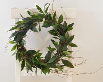 Eucalyptus And Lambs Ear Wreath