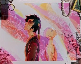Avatar the Last Airbender | Zuko and Aang Dragon Dance | ATLA Art Print