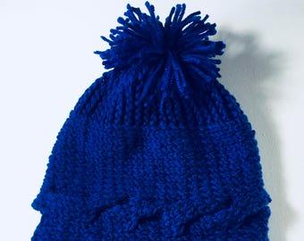 Crochet Beanie Royal Blue
