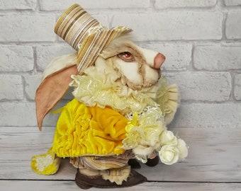 Alice in Wonderland decoration, white rabbit gift