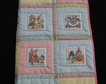 Handmade baby quilt or playmat