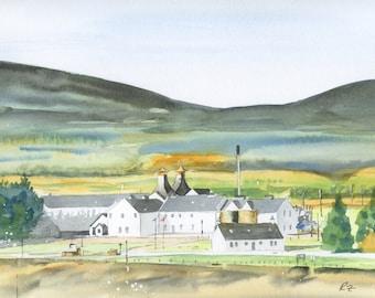 Scottish Distillery Greeting Card - Dalwhinnie