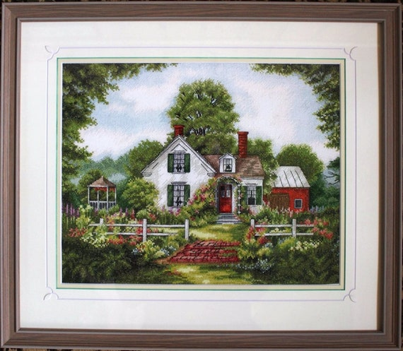 House Cross Stitch Pattern PDF Instant Download Summer Cross Stitch Bright  Cross Stitch Garden Cross Stitch Cozy Cross Stitch Family Cross