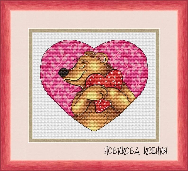 Bear Cross Stitch Pattern PDF Instant Download Cute Cross Stitch Love Cross Stitch Nursery Cross Stitch Rabbit Cross Stitch Counted Chart
