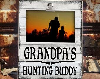 GPA/HUNT: Grandpa's Hunting Buddy, Clip Frame, Photo Frame, Clip Frame For Grandparent, Clip Frame For Grandpa, Photo Displa, 4x6 Display