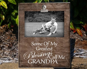 CALL/GPA: Clip Frame, Photo Frame, Gift for Grandpa, Photo Frame For Grandpa, Clip Frame For Grandparent, Gift From Grandchild, Home Deocr