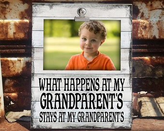 STAY/GRDPA: Clip Frame, Photo Frame, Clip Frame For Grandpa, Photo Frame For Grandpa, Photo Display, Home Decor, Gift For Grandpa