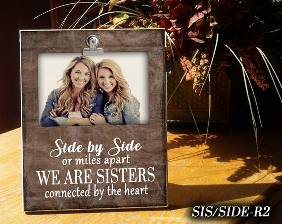 Sisside Clip Frame Photo Frame Clip Frame For Sisters Gift For Sister 4x6 Photo Display Photo Clip Frame Gifts Under 25 Home Decor