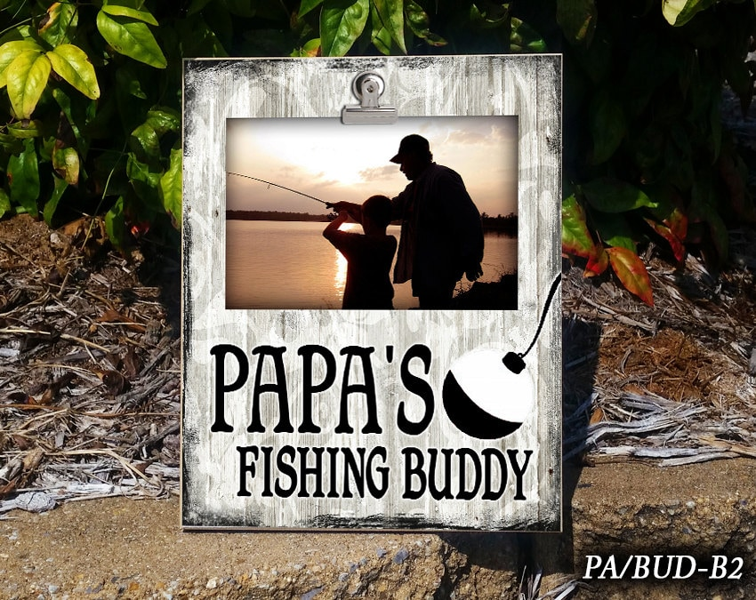 Pa Bud Papa S Fishing Buddy Clip Frame Photo Frame