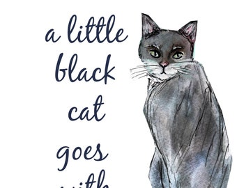 Little Black Cat Etsy
