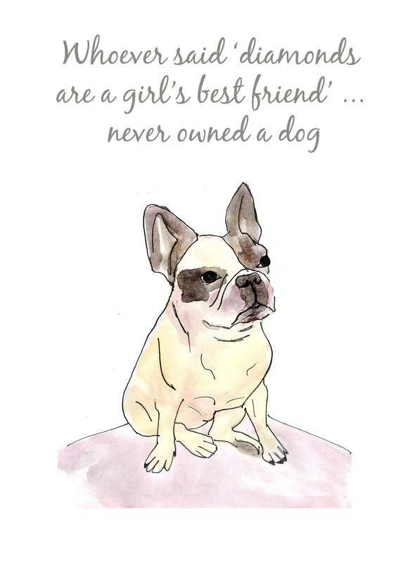 french bulldog, dog quote print, funny dog poster, black pug, per lover  gift, gift for dog mom, family wall decor, gift for girls, pets