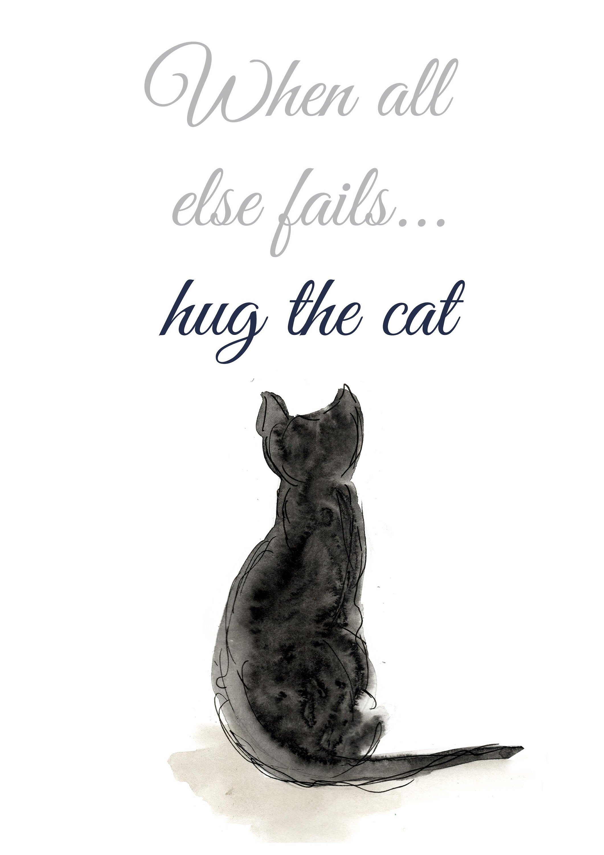 a312c59ae95 Family wall art funny quotes black cat prints cat quotes