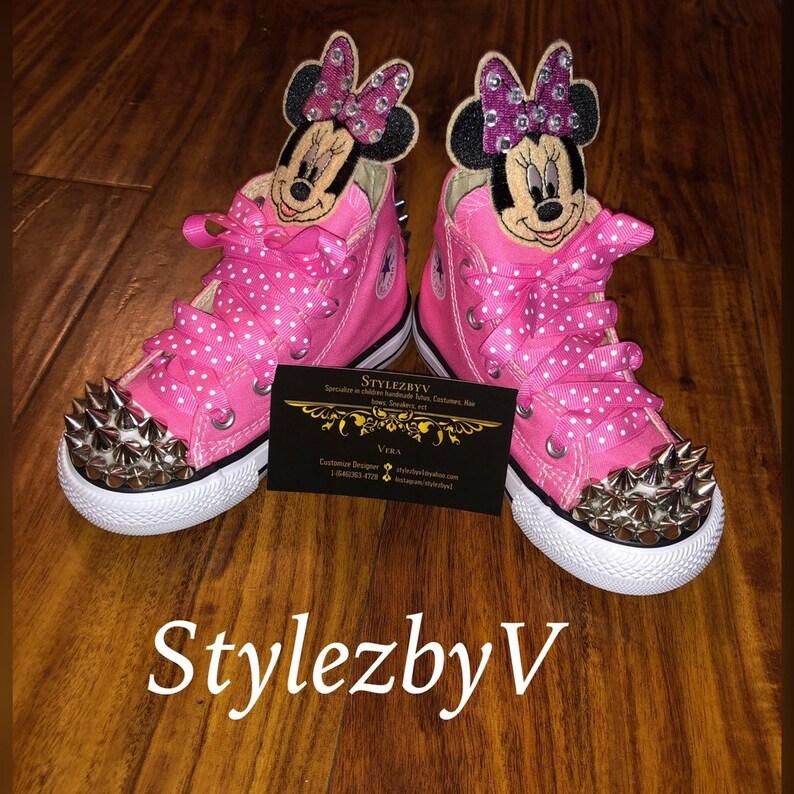 cbced8e6e531a2 Disney Minnie Mouse Converse Minnie mouse Birthday party | Etsy
