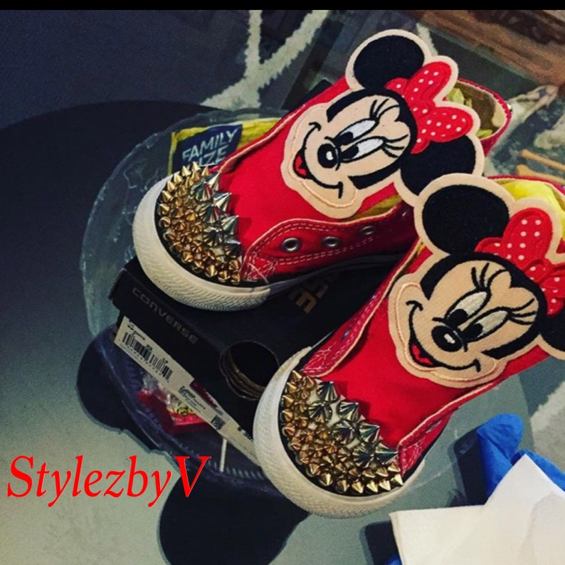 18de55c7748d Minnie Mouse Converse Minnie Mouse Birthday Customize