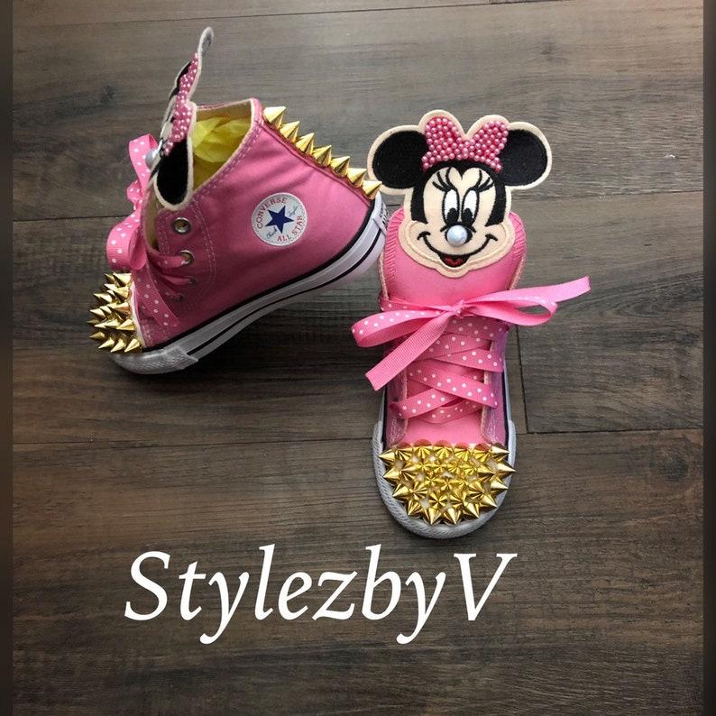 0068d5eefcc3cf Customized Minnie Mouse chucks Minnie Mouse customized | Etsy