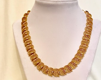 60s Gold Filigree Chain necklace   GJ2887