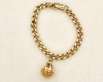 60s Gold Chain and Charm Bracelet     GJ 3033