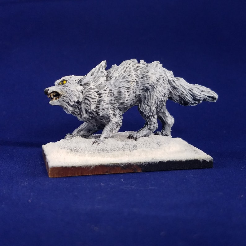WinterWolf Painted Mini (Reaper 77437) Warg dog canine winter lupine Animal  Companion Familiar Monster Ranger Druid Wizard D&D Pathfinder