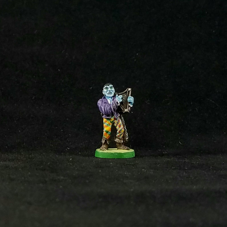 25mm Male Moon Elf Bard Painted Mini From Ral Partha 11 013 Etsy