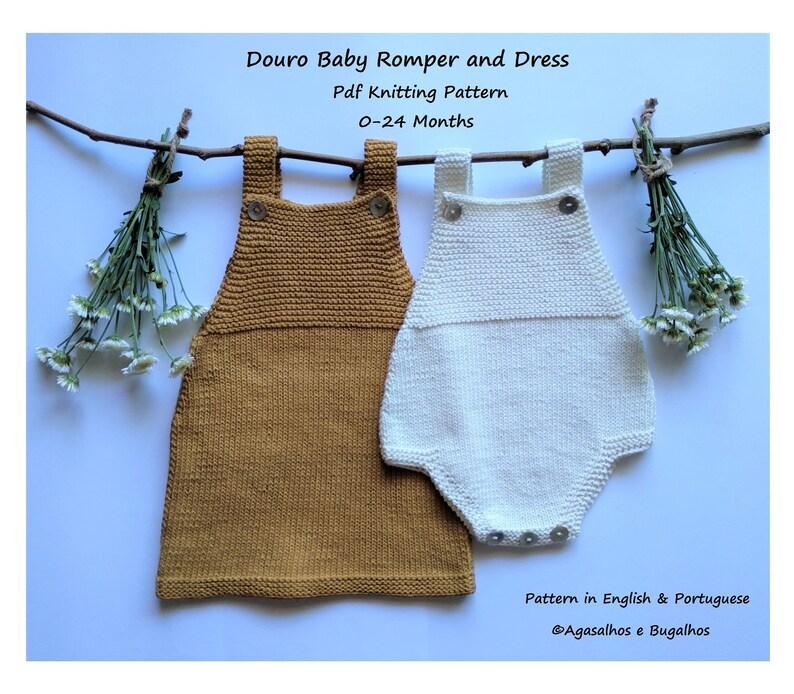 f874f50a1 KNITTING PATTERN Douro Baby Romper and Dress Knitting